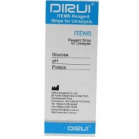 Тест-полоски DIRUI 3 ITEMS (Glucose, pH, Protein)