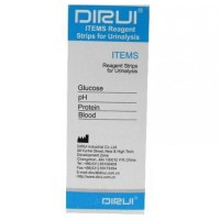 Тест-полоски DIRUI 4 ITEMS (Glucose, pH, Protein, Blood)
